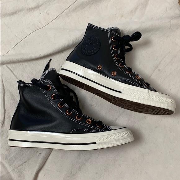 Leather Converse Chuck Taylors Sz